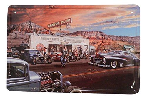 USA Route 66 Gas Tin Sign Bar Cafe Diner Garage Wall Decor Retro Metal Art Poster