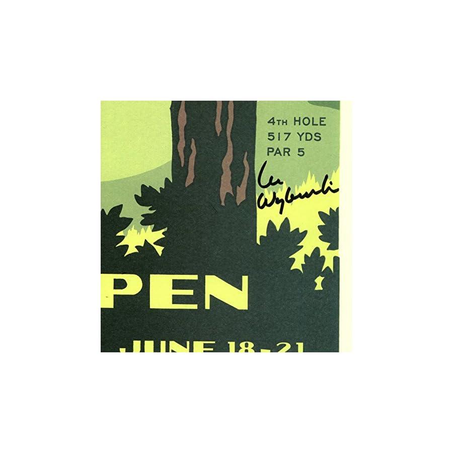 Signed 2009 U.S. Open Bethpage Black Poster by Lee Wybranski