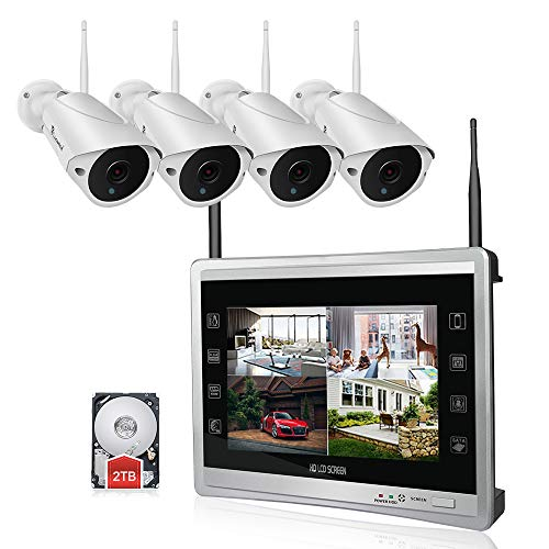 Luowice 1080P Wireless Security Camera System with 11