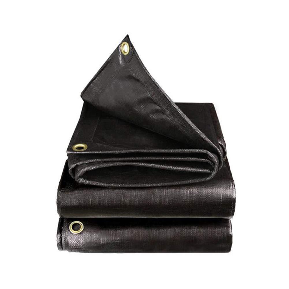 Dall telone Anti-Panno PE Tarp Impermeabile Antigelo Freddo Stoffa Poncho Tenda Isolamento (colore   Nero, Dimensioni   4×5m)