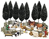 Department 56 Snow Village Farm Accessory Set Set of 35