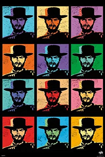 Pyramid America Clint Eastwood Pop Art Poster 24x36 inch