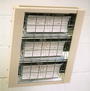 Heatlight infrarrojos cerámica calefactor con 1500W, 3000W, 4500W–para interiores, potencia: 4500W
