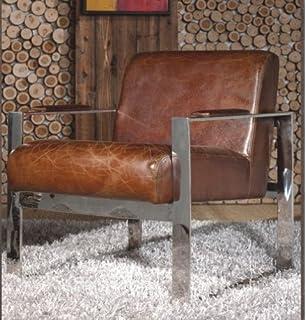 Lounge sessel retro  Vintage Echtleder Schalensessel Design Ledersessel Alu genietet ...