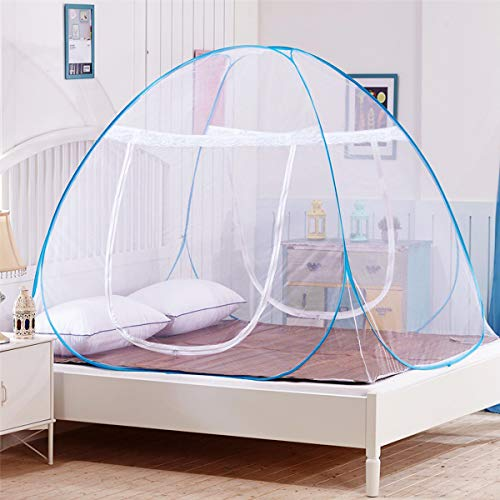 Adult Bottoms Baby (DaTong Pop-Up Mosquito Net Tent for Beds Anti Mosquito Bites Folding Design with Net Bottom for Babys Adults Trip (79 x71x59 inch))