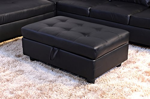 Beverly Fine Furniture Russes Sectional Sofa Set with Ottoman