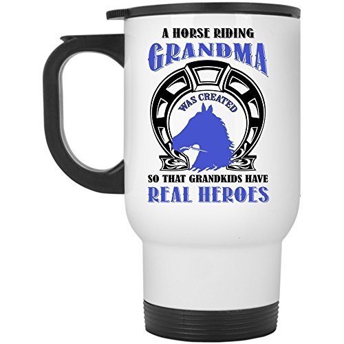 Grandkids Travel Mug, A Horse Riding Grandma Was Created Mug (Travel Mug - (How Was Halloween Created)