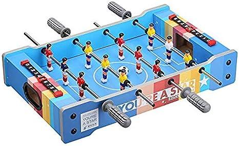 Mini tabla de fútbol para niños Mini tabla de fútbol para futbolistas Jugadores de futbolín Diversión familiar Juguete Juego de niños Juego de regalo de cumpleaños de Navidad Juguetes Juegos interior: Amazon.es: