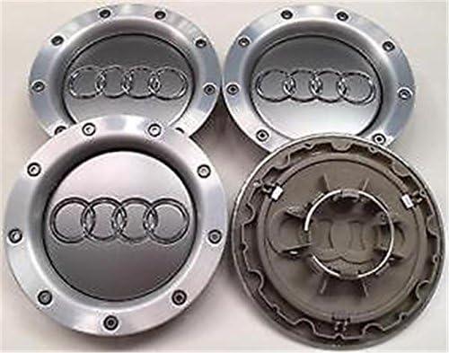 guoyuan 4 tapacubos de aleación para Audi RS, TTA1, A2, A3, A4, A5, A6, A7, A8 Q S-Line