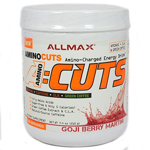 ALLMAX A:CUTS – Amino Charged Energy Booster Dietary Supplement, Goji Berry Martini, 210g, 30 Servings by ALLMAX NUTRITION