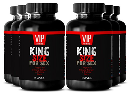 L-arginine l-citrulline - KING SIZE FOR SEX - Testosterone pills (6 Bottles 360 Capsules) by VIP VITAMINS