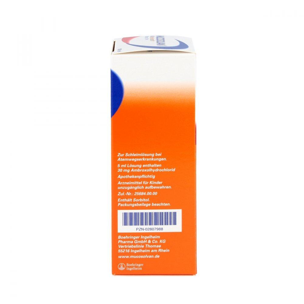 Mucosolvan - Jarabe pediátrico para la tos (30 mg/5 ml, 100 ml): Amazon.es: Salud y cuidado personal