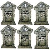 "VICTORYSTORE.COM Serial Killer Tombstones - Halloween Yard Decoration - Set/6, 21.3"" x 14.8"""