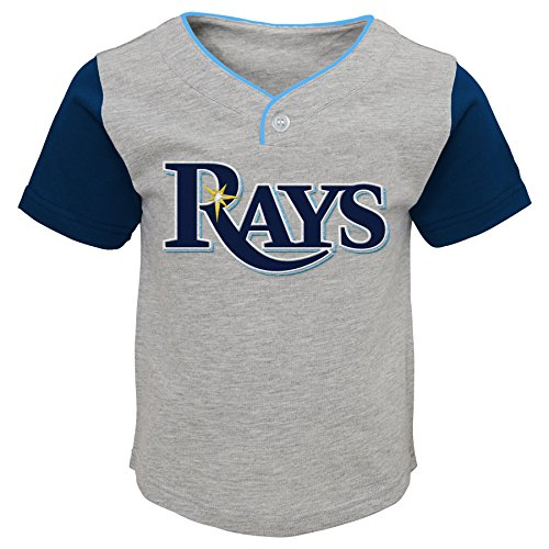 MLB Tampa Bay Rays Toddler Boys Batting Practice Short Set-3T, Heather - Rays Clothing