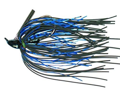 Buckeye MOP12BB 1/2-Ounce Mop Jig Fishing Lure, Black and Blue Finish