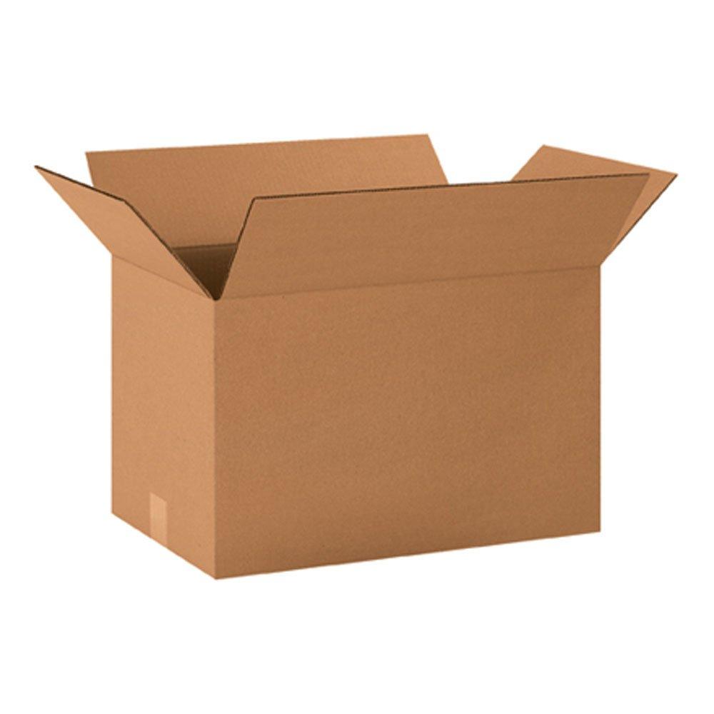 "Aviditi 201212 Corrugated Box, 20"" Length x 12"" Width x 12"" Height, Kraft (Bundle of 20)"
