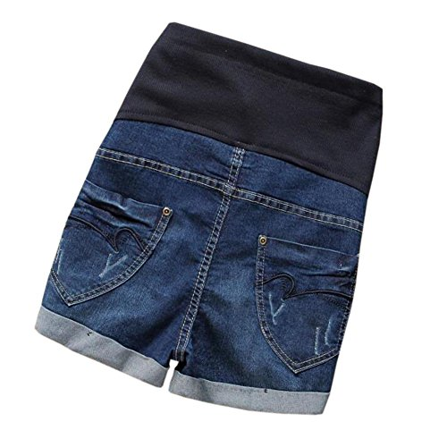 Femme Shorts Style2 Ceinture Denim Xinvision Rglable Dame Mode Maternit Jeans aXBqwgqEx