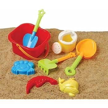 US Toy Beach Bucket Sand Castle Play Set (8 Piece)