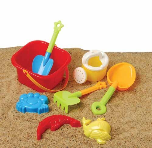 us-toy-beach-bucket-sand-castle-play-set-8-piece