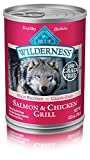 Blue Buffalo Wilderness High Protein Grain Free, Natural Adult Wet Dog Food, Salmon & Chicken Grill 12.5-Oz Can (Pack Of 12) For Sale