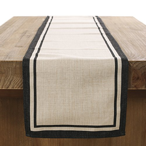 ling's moment 12x72 inch Classic Durable Linen Burlap Table