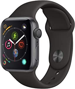 AppleWatch Series4 (GPS, 40mm) - Space Gray Aluminium Case with Black Sport Band (Renewed)