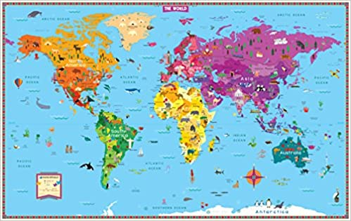 Kids world map rand mcnally 0070609020426 amazon books gumiabroncs Choice Image