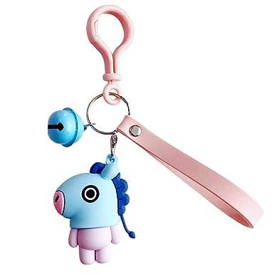 Asiproper Cute Korean Women Men Cartoon Character Keychain Keyrings Bags Pendant Birthday Gifts Amazonin Clothing Accessories