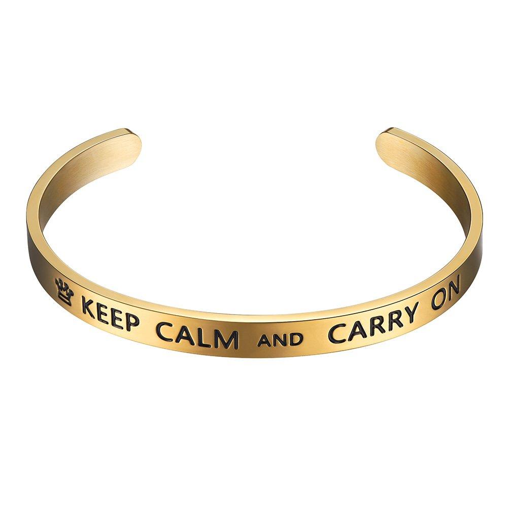 PROSTEEL Cuff Bracelet,Bangle,Inspirational