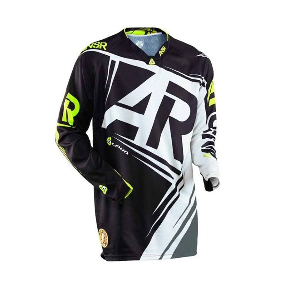 Fahrrad Reitanzug Outdoor Sports Langarm T-Shirt Downhill Anzug Motocross Racing Jersey Fahrrad Trikot LPLHJD (Color : 12, Size : XXXL)
