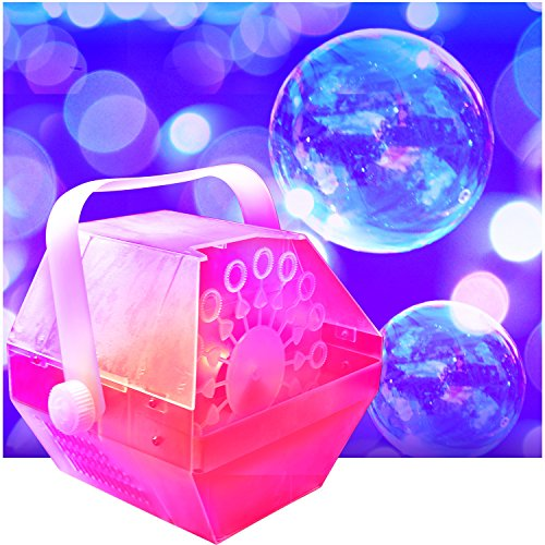 LED Bubble Machine - Lights Up Changing Colors to the Beat o