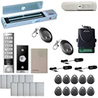 Vsionis FPC-5654 One Door Access Control Outswinging Door 600lbs Maglock with VIS-3005 Outdoor Weatherproof Metal Touch Slim Keypad/Reader Standalone No Software with Wireless Receiver and PIR Kit