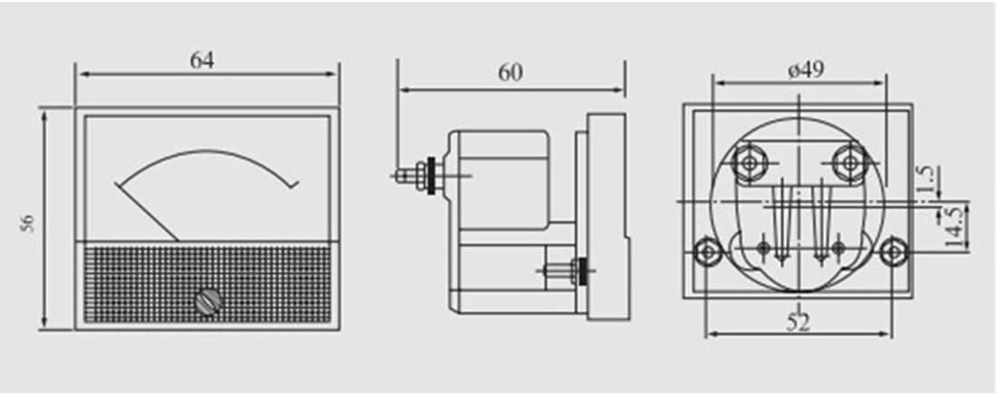 uxcell AC 0-30A Analog Panel Ammeter Gauge Ampere Current Meter 85L1