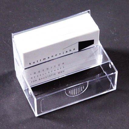 Caja Tarjetas de Visita 101x64x28mm Transparente: Amazon.es ...
