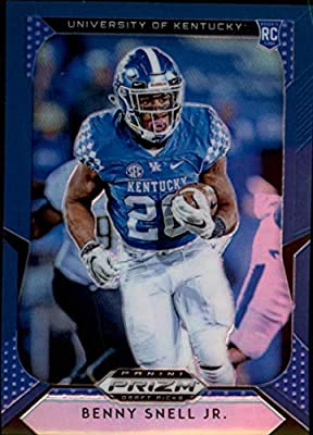 2019 Prizm Draft Picks Football Blue Prizm #121 Benny Snell Jr. Kentucky Wildcats Panini NFL Collegiate RC Rookie Card