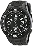 Swiss Legend Men's 21818P-BB-01 Neptune Collection Black Textured Rubber Watch