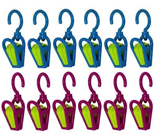 Smart Home Swivel Hanging Clip Hook - Set Of 12