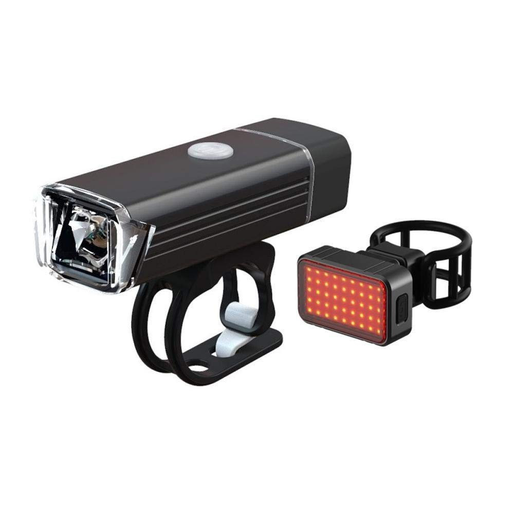 Daeou Luces de Bicicleta USB Cargador Linterna Carretera ...