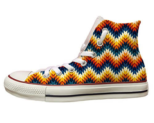 "Converse All star personalizzate con stampa ""Geometrie multicolor"" Multicolor"