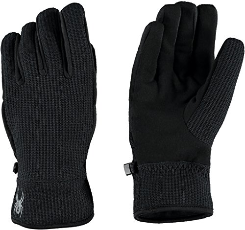 Spyder Base Layer - Spyder Men's Core Sweater Conduct Gloves, Medium, Black/Black