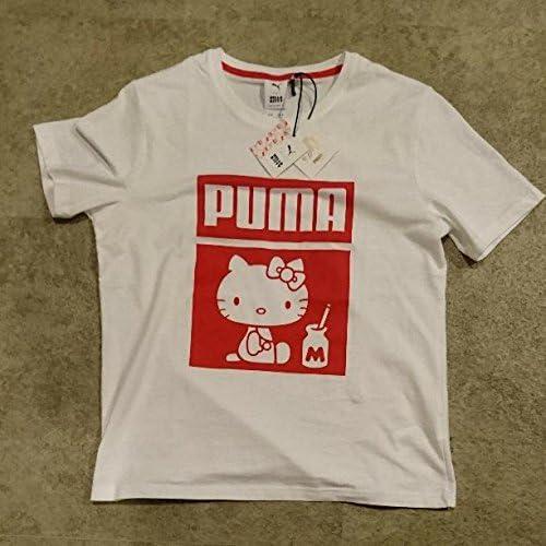 大きめ プーマ キティ 希少 Mサイズ 50周年 Tシャツ 白×赤