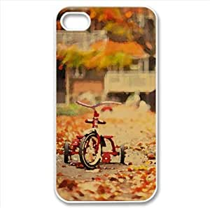 Tricycle Watercolor style Cover iPhone 4 and 4S Case (Autumn Watercolor style Cover iPhone 4 and 4S Case)