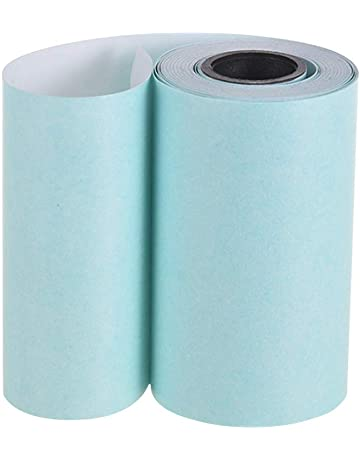 Aibecy Imprimible Etiqueta Papel Rollo Papel térmico directo con adhesivo para PeriPage A6 Impresora térmica de