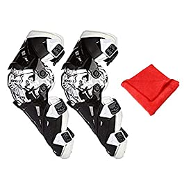 AllExtreme EXK12W2 Breathable Adjustable Knee Pads Motorcycle Racing Riding Knee Guard Unisex Shin Armor Protector with…
