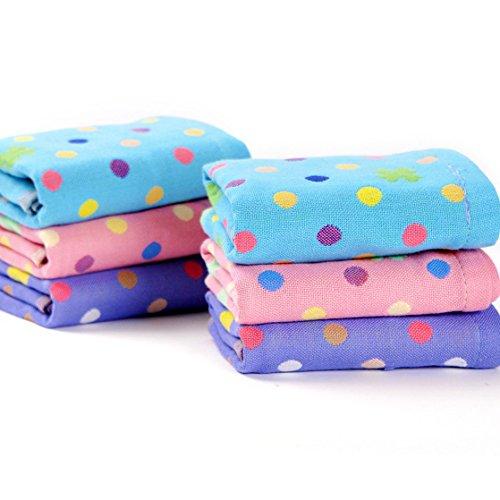 Riverbyland Absorbent Cotton Baby Towel Polka Dot Pattern...