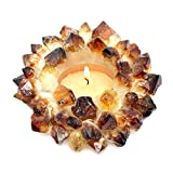 1 (One) Citrine Point Candle Holder Rock Paradise Exclusive with Certificate of Authenticity AM9B6