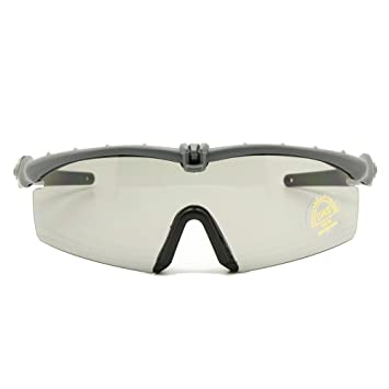 Polarized Armee Sonnenbrille militärischer Brille Men Rahmen 3/4 Linse Kampf Krieg Spiel eyeshields (Armee grün, Polarized 4 Objektiv)