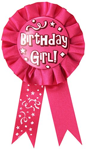 Beistle 60417 Birthday Girl Award Ribbon, 3-3/4-Inch by 6-1/2-Inch