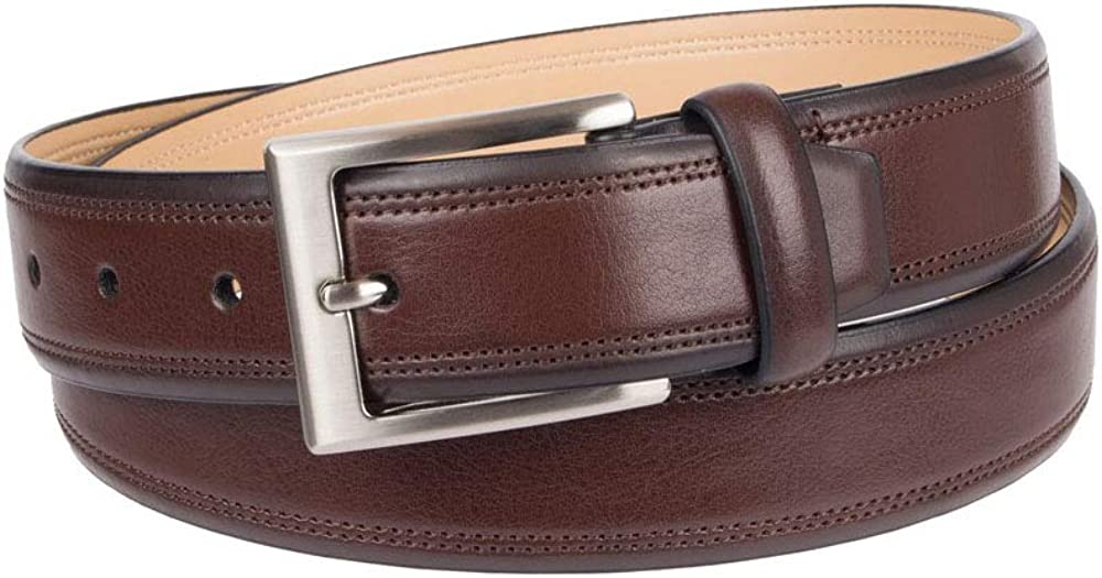 Brown Mens Croft /& Barrow Double-Row Stitch Belt Size 44