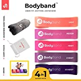 BodyBand Latex Resistance Bands for Exercise (4 in 1 Combo for...
